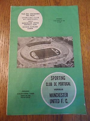 Sporting Lisbon V Manchester United, Cup winners Cup quarter final- 1963/4.