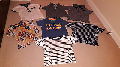 A bundle of 7 Baby Boys T-Shirts (3-12 months)