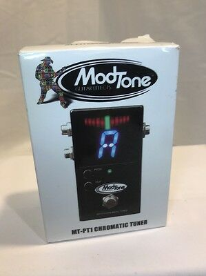 ModTone MT-PT1 Chromatic Pedal Tuner for Guitar and Bass Free Shipping