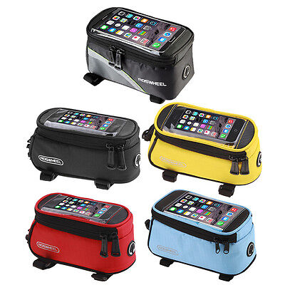 Cycling Bike Front Top Frame Pannier Tube Bag Case Pouch for Cell Phone MX