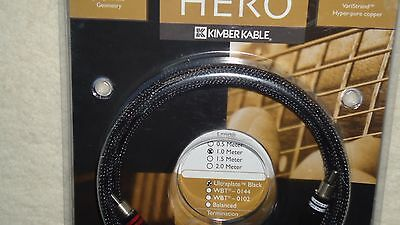 Kimber Kable Hero  RCA 1M. Russ Andrews interconnect one pair Hige-End cables
