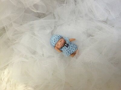 Tiny hand sculpted baby boy,Artist Doll, Ooak,Dollhouse,Buy It Now Price,SALE!!