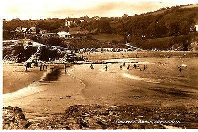 CARDIGANSHIRE- RP Postcard of Dolwen beach, ABERPORTH - 1930/40s ??