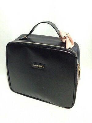 Lancome Paris Bag Makeup Cosmetics Travel Case The Parisian Holiday Black