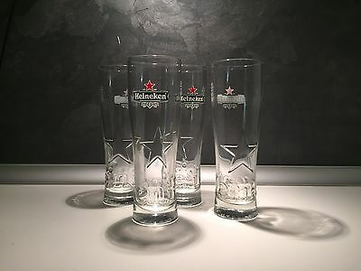 6 Verres A Biere 25 Cl Heineken Model Star Collector  Neufs + 12 S/bocks Kdo