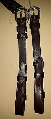 Mark Todd Brown English Leather Cheek Pieces. Pony Size.