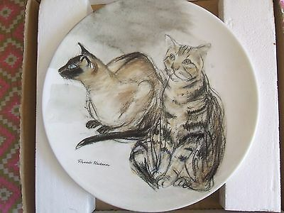 New Boxed With Certificate Elizabeth Blackadder Cat Plate Puskas And Tigger