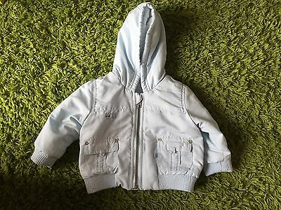 Baby Boys Baby Blue Mothercare Coat Size 3-6 Months