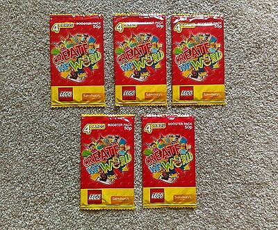 Lego create the world cards - 5 packs - lot 1