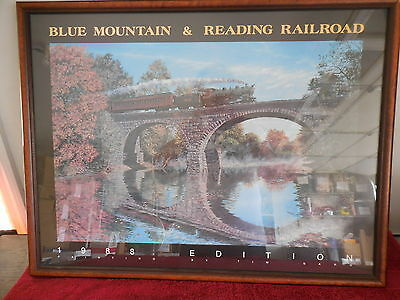 Rare 1988 Framed picture of the Blue Mountain & Reading Railroad  (RC)