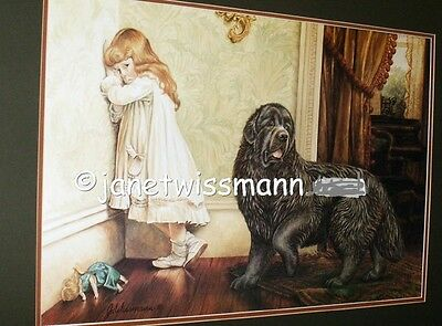 FINE ART NEWF PAINTING PRINT Newfoundland Dog Limited Edition, Signed Large16x23