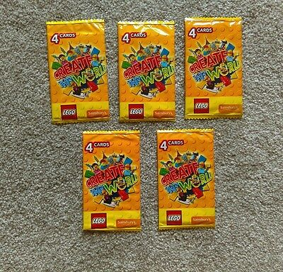 Lego create the world cards - 5 packs - lot 5