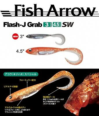 "Fish Arrow Finesse Soft Lure Saltwater Serie Flash J Grub 4.5"" Sw"