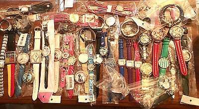 LOT of 40 NEW DEFECTIVE< BROKEN WATCHES FOR REPAIR OR PARTS