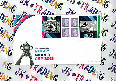 Rugby World Cup 2015 - Royal Mail Stamp Book Booklet FDC / FDE - 18.09.2015