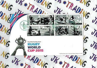 Rugby World Cup 2015 - Royal Mail Stamps FDC / FDE - 18.09.2015 R