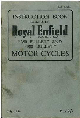 ROYAL ENFIELD BULLET 350 & 500cc MOTORCYCLE OPERATORS MANUAL