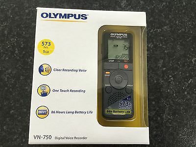 Olympus VN 750 Digital Voice Recorder, boxed with instructions