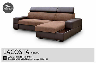 - Lacosta - Best Sale New Corner Sofa Bed, Sleep Function more than 4 seater