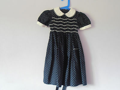 Vintage St Michael 1998 smock fronted   girls dress 11/2-2 yrs