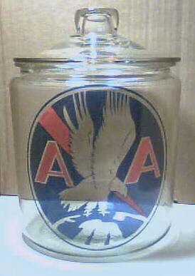 Very Nice American Airlines Glass Counter Jar