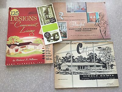 Lot of 3 Mid Century 1950s Home & Interior Design Books / Brochures