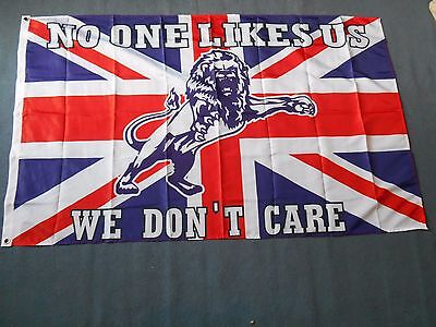 Millwall No One Likes Us  3 X 5Ft Flag Casuals Ultras Treatment Bushwackers
