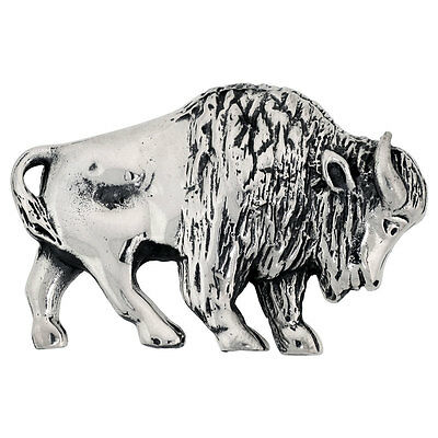 "Sterling Silver Year of The Ox Zodiac Sign Brooch Pin, 1 11/16"" (43 mm) wide"