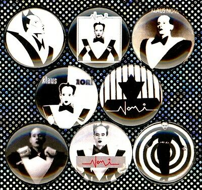 Klaus Nomi 8 NEW pins buttons badges keith haring mudd club bowie new wave punk