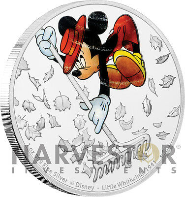 Disney Mickey Through The Ages - Little Whirlwind - 1 Oz. Silver Coin - 7Th Coin