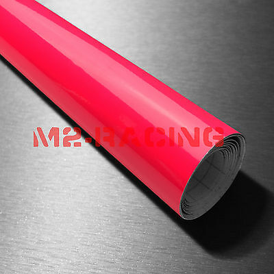 "12""x39"" Fluorescent Pink Vinyl Self Adhesive Decal Plotter Sign Sticker Film"