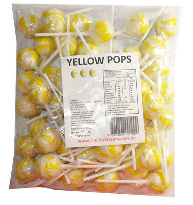 Ball Pops - Yellow (1kg bag - approx 50pc)