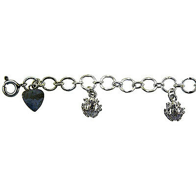 Sterling Silver Frogs Anklet, fits 9 - 10 inch ankles