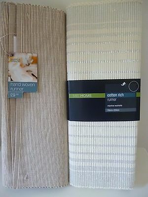 M&S HOME Table Runners Set of 2 NWT
