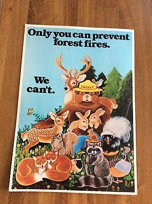 "Smokey Bear ""Only you can prevent forest fires"" Poster"