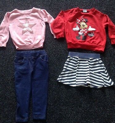 Baby Girls Bundle Age18-24 Months 1-2 Years Outfits Leggings Jumper Skirt