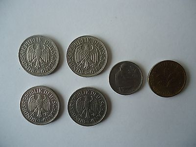 Selection of German coins