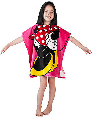 Disney Minnie Mouse Girls Hooded Poncho Towel