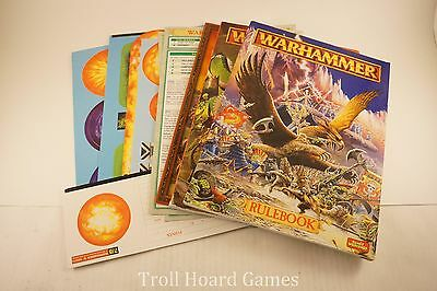 OOP Warhammer Fantasy Rulebook / Battle Book + Templates - 5th Edition Lot
