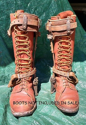Vintage Bashlin Steel Lineman  Pole Climbing Spikes/gaffs (Not The Boots)