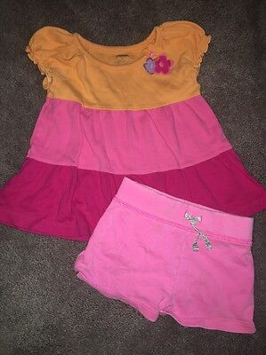 Gymboree Girls 3t Outfit Carters Shorts Pink Flower Top