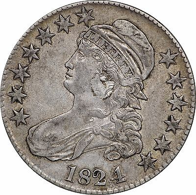 1824 Capped Bust Half Dollar - Very Fine VF