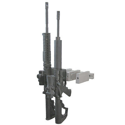 AR 15 Quad Gun Rack Rifle Wall Mount M16 M4