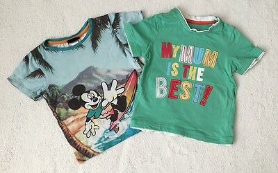***Mothercare Mummy /H&M Disney baby boys 2 tops 18-24 months (1,5-2 y) VGC***
