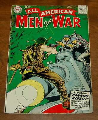 All American Men Of War #52 Wwii Dc Silver Age Kubert Tank Cover Vg/fn 1957