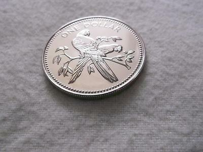 BELIZE 1 DOLLAR 1980 SCARLET MACAW BIRD HIGH GRADE COIN ONLY 761 MINTED    E570a
