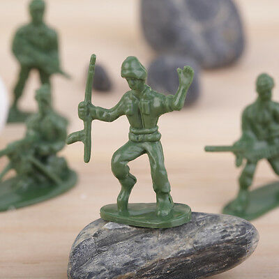 100pcs/Pack Military Plastic Toy Soldiers Army Men Figures 12 Poses Gift MX