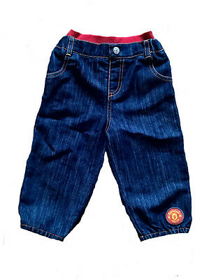 BABY 9 12 Months MANCHESTER UNITED Jeans Bottoms Pants Boys Tracksuit Infant