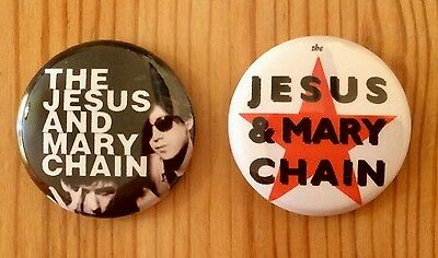 The Jesus And Mary Chain - Set Of 2 Button Pin Badges