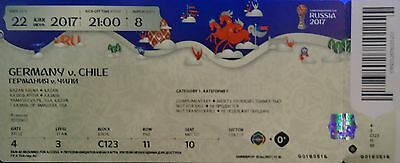 mint TICKET Confed Cup 22.6.2017 Deutschland - Chile Match 8